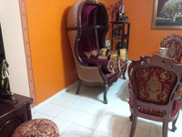 Used Adorable Maroon Velvet love-seat in Dubai, UAE