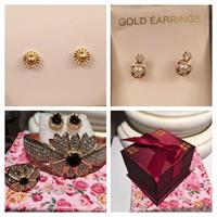 10 K Studs Earring And Fashion Set