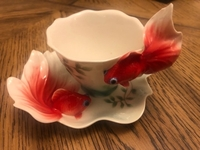 Used Lucky Goldfish Cup and Saucer in Dubai, UAE