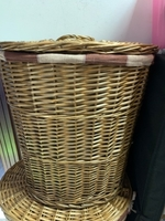 Used Wooden Rattan Containers (3 in a set) in Dubai, UAE