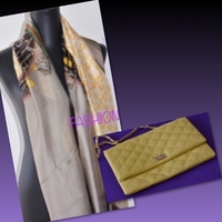 Used Yellow Shoulder Bag & Scarf  in Dubai, UAE