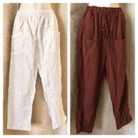 Used 2 loose elastic waist Pants size 3XL XL  in Dubai, UAE