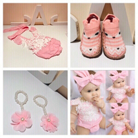 Used Romper 3 M & shoes socks & flower foot   in Dubai, UAE