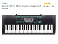 Used Casio CTK 2100 key board + free stand  in Dubai, UAE