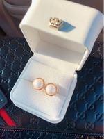 Used Earrings, Real Pearl,G 14K with S925 pin in Dubai, UAE