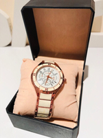 Used Men's watch roses gold/cream in Dubai, UAE