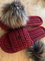 Used women's slippers maroon colour  in Dubai, UAE