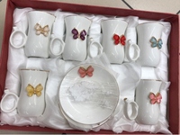 Used 12 pcs butterfly 曆 tea set in Dubai, UAE