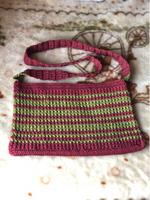 Used Beautiful Handmade crochet bag marun&red in Dubai, UAE