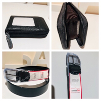 Used Card holder genuine leather+belt black in Dubai, UAE