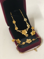 Gold Plated Floral Design Jewelry Set :