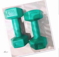 Used 1KG DUMBBELL 2X 💙 in Dubai, UAE