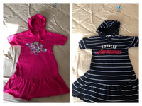 2 Hooded dresses Excellent Quality 8/9y