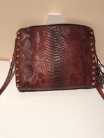 Used Small hand bag brown PU leather  in Dubai, UAE