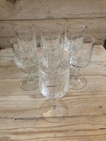 Used Set of 7 crystal white wine glasses  in Dubai, UAE