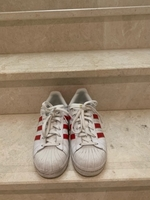 Used Red Adidas Super Star shoes in Dubai, UAE