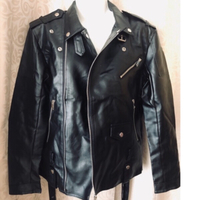 Used Men's Faux leather motorcycle jacket in Dubai, UAE