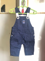 Used New giggles denim jumpsuit 0-5 👦 read👇 in Dubai, UAE