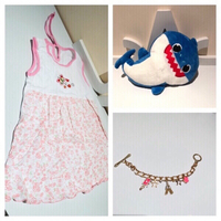 Used Baby dress 12M+baby Sharq 🎶+bracelet in Dubai, UAE