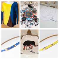 Used Bundle: 2 T-Shirt+shorts+3 belts+purse in Dubai, UAE