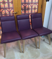 Used 3 purple leatherette chairs in Dubai, UAE