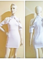 Used White off shoulder partydress-Small size in Dubai, UAE