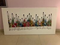 Used African hand painted canvas print.  in Dubai, UAE