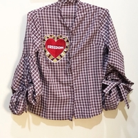 Used Plaid Embellished Blouse in Dubai, UAE