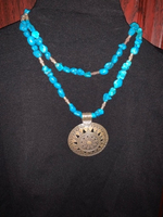 Used Turquoise necklace with silver pendant  in Dubai, UAE