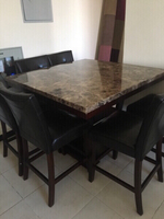 Used Dining table with high chairs in Dubai, UAE