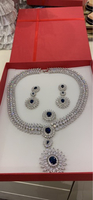 Used Diamond necklace earrings and ring in Dubai, UAE