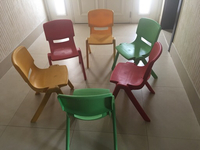Used 6 chairs solid plastics new  in Dubai, UAE