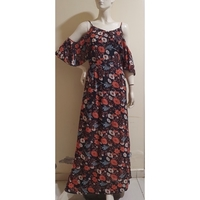 Used offshoulder floral dress;medium size; in Dubai, UAE