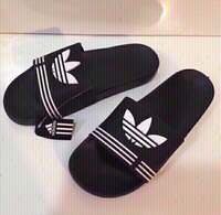 Used Adidas slippers size 45,new  in Dubai, UAE