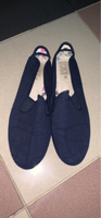Navy flossy style shoes for men