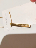 """Used Never give up"""" fashion necklace  in Dubai, UAE"""