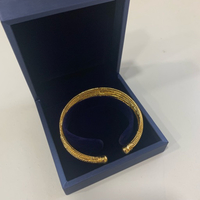Bangle for ladies, 18K gold plated