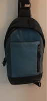 Used Coach leather hand bag for man light blu in Dubai, UAE