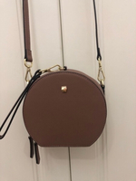 Used Circular Crossbody Bag - Taupe color in Dubai, UAE