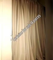 Used Curtains for sale 4 pieces (very wide) in Dubai, UAE