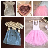 Used Princess tutu dress & dress & heart bag in Dubai, UAE