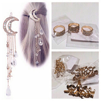 Bundle of 9 items 6 rings and 3 hairpins