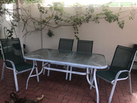 Used Garden table with 5 chairs  in Dubai, UAE