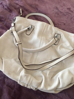 Used Leather handbag white  in Dubai, UAE