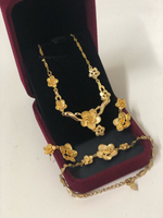 Gold Plated Floral Design Jewelry Set