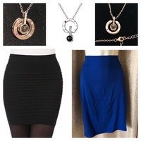 Used 2 skirt size S + M & silver necklace ❤️ in Dubai, UAE