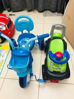 Used Kids tricycle with free ride on car  in Dubai, UAE