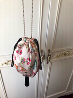 Drawstring bag with tassel