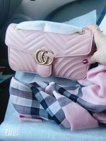 Used Gucci Marmont small size perfect pink in Dubai, UAE