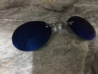 Used rimless clamp glasses blue color  in Dubai, UAE